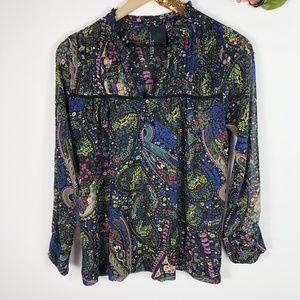 [DOLAN] Floral Print Paisley Odessa T-Shirt Blouse
